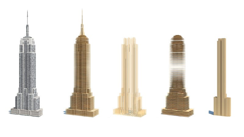 Illustration for article titled Could The Empire State Building Be Built With Wood?