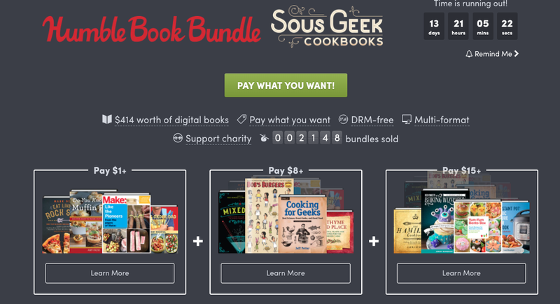 Sous Geek Cookbooks | Humble