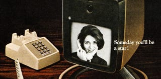 Illustration for article titled Crossing a telephone with a TV set in 1968