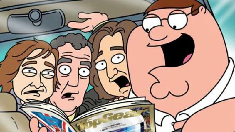 Illustration for article titled Top Gear Interviews Family Guy's Peter Griffin: Be Proud, America