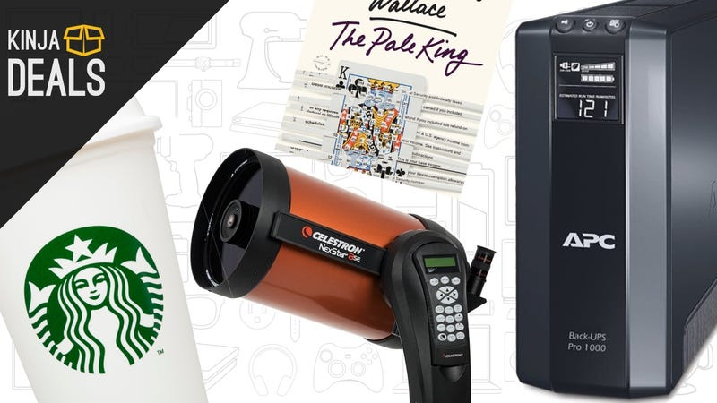 Illustration for article titled Today's Best Deals: Backup Power, $3 Novels, Starbucks E-Gift Card, and More