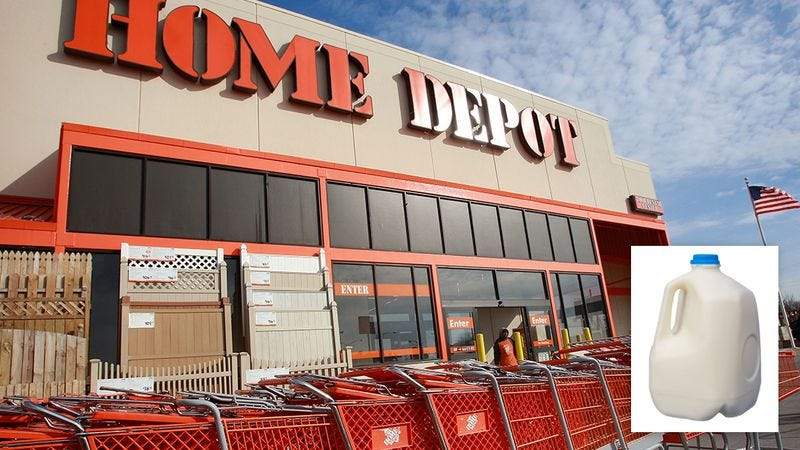 Illustration for article titled Major Scandal: Home Depot Was Caught Selling Milk To One Customer