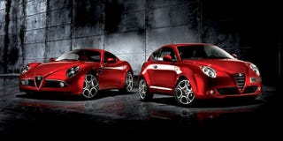 Illustration for article titled Alfa Romeo Mi.To Meets 8C Competizione In Photo Studio, Wants Some Attention Too