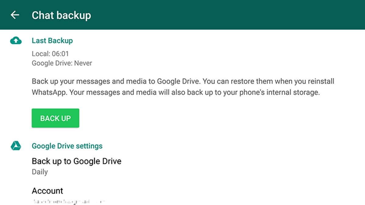 google drive whatsapp