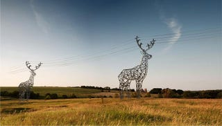 Illustration for article titled I Wish These Deer Power Line Towers Were Real