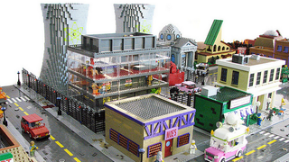 Illustration for article titled Springfield From The Simpsons, Rebuilt As A LEGO Town