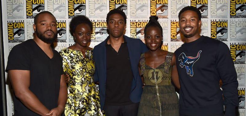 Black Panther cast crew; Director Ryan Coogler, actor Chadwick Boseman