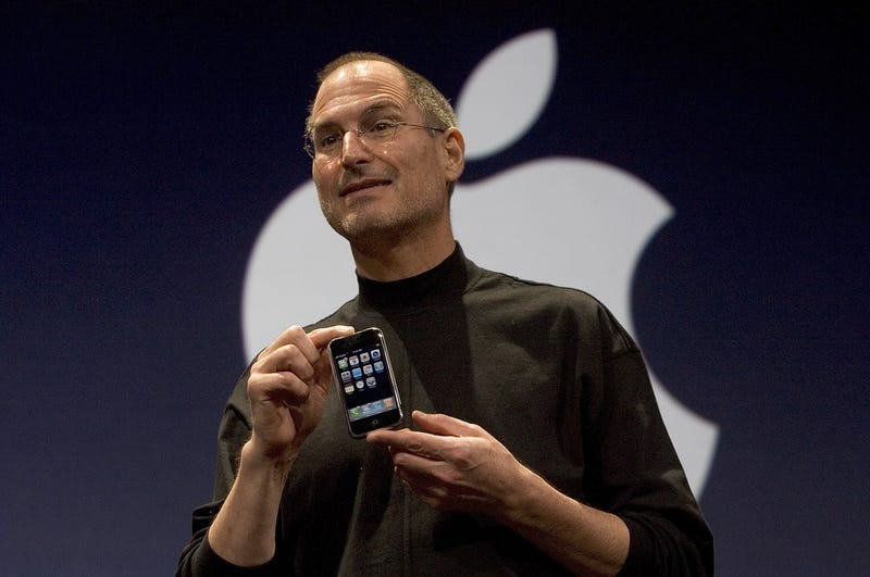 Steve Jobs launches the iPhone in 2007