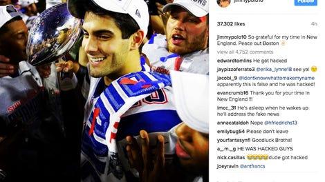 Jimmy Garoppolo Posts Goodbye To Patriots On Instagram 053b530dc