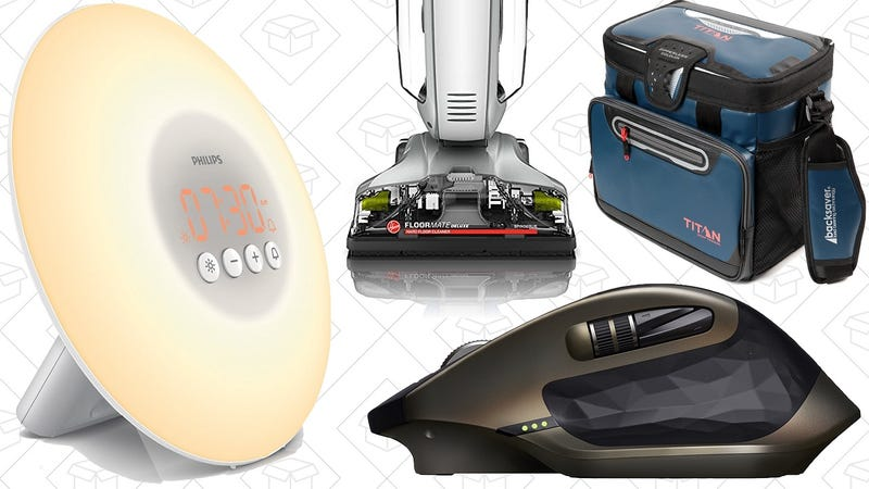 Illustration for article titled Today's Best Deals: Wake-Up Light, MX Master Mouse, Hoover FloorMate, and More