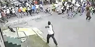 Screenshot of Mother's Day parade shooting in New Orleans (YouTube)