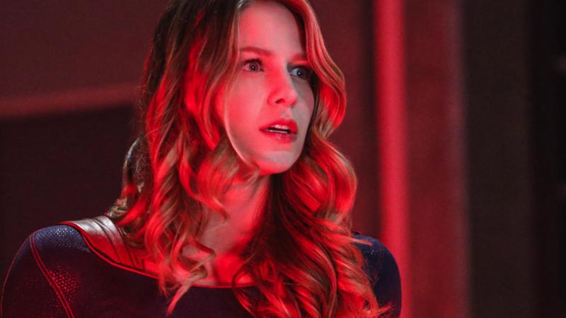 Season four Kara is seeing red over her season five self's new look.