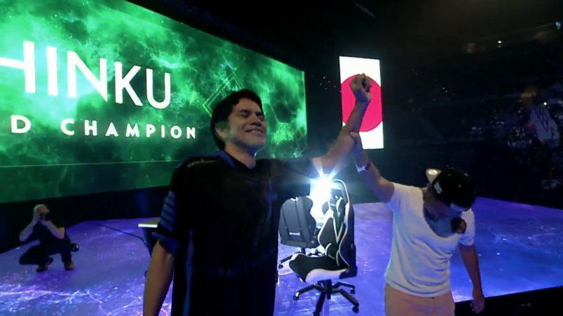 "Oscar ""Shinku"" Jaimes opened Evo 2019 finals day with a victory in the BlazBlue: Cross Tag Battle ch"
