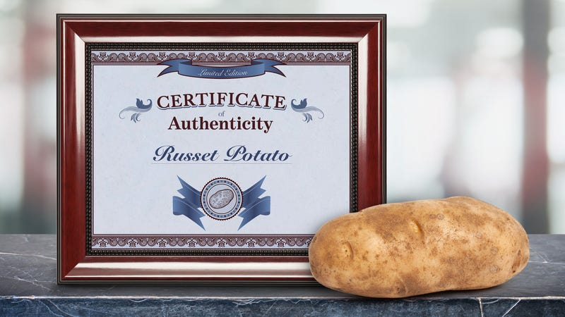 Illustration for article titled Limited-Edition Russet Potato Comes With Certificate Of Authenticity