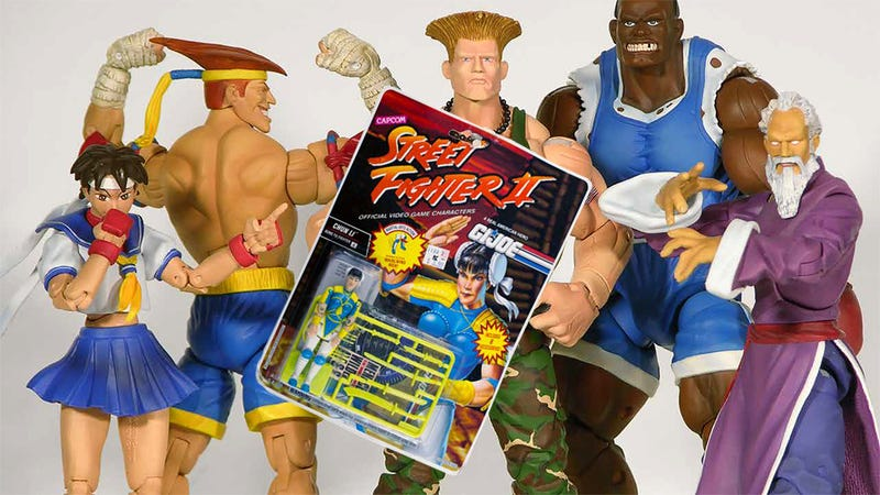 Illustration for article titled 25 Years Of Street Fighter Toys, Starting With The Worst
