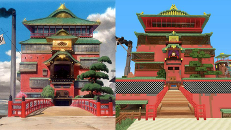 Illustration for article titled Miyazaki's Spirited Away, Remade Entirely in Minecraft