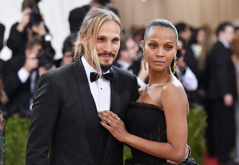 Zoe Saldana and her husband, Marco Perego, at the Met Gala in New York City on May 2, 2016Mike Coppola/Getty Images for People.com