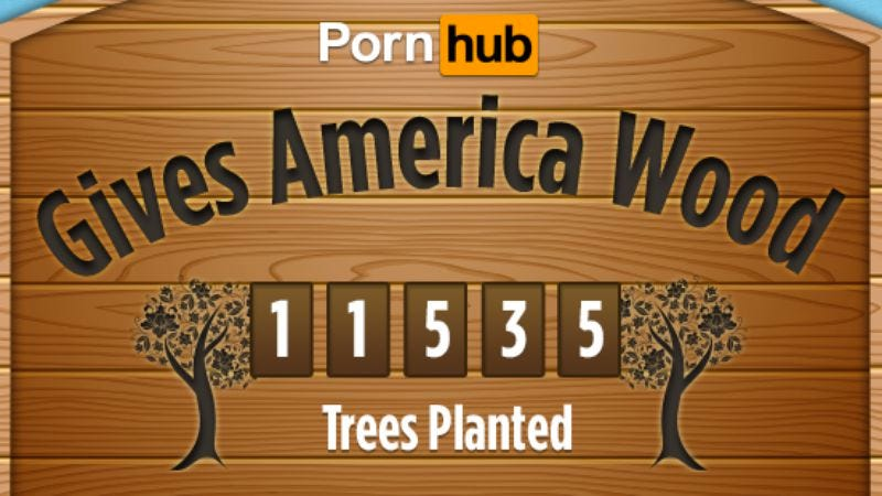 Illustration for article titled Pornhub aiming to save the environment with big dick videos