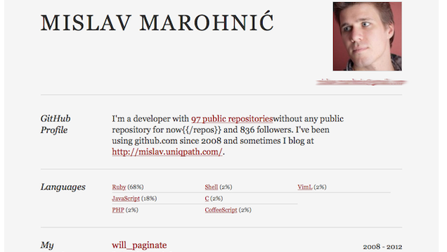github resume transforms your github account into a one