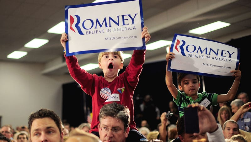 Illustration for article titled Insufferable 8-Year-Old Won't Stop Chanting 'Romney'