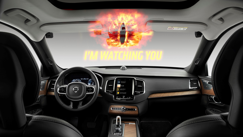 Illustration for article titled Volvo Wants You to Stop From Texting While Driving by Monitoring You With an In-Car Camera [UPDATED]