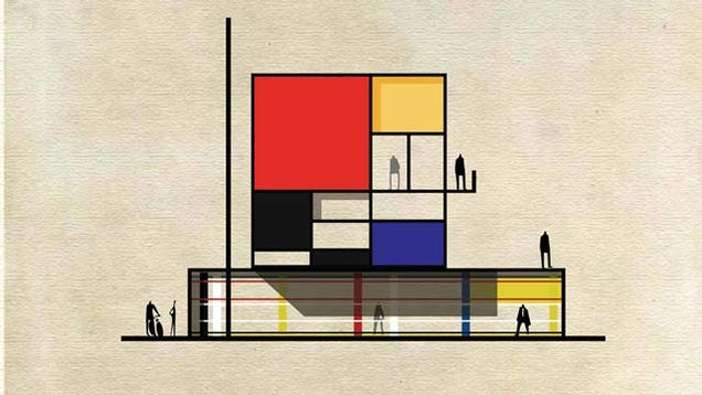 Can you name the famous artists who inspired these buildings for Famous building names