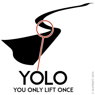 "Illustration for article titled New Blipshift Shirt - ""YOLO"""