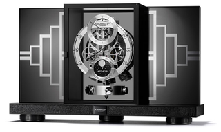 Illustration for article titled Alfred Dunhill Atmos Regulator Clock Is an Art Deco Dreamboat