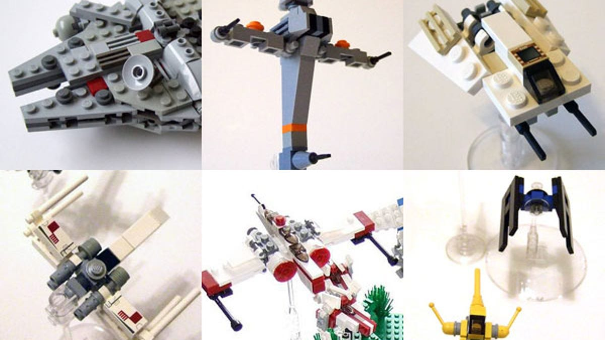 Using Hundreds of LEGO Star Wars Mini-Spaceships to Create Huge Battles
