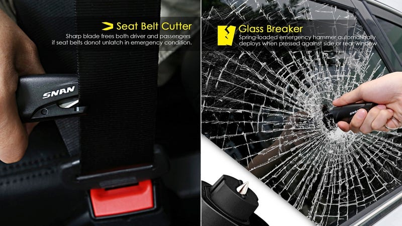 SNAN Mini Safety Hammer Car Emergency Tool, $5 with code 7WDW2ZAW