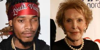 Fetty Wap; Nancy ReaganKevork Djansezian/Getty Images; Stephen Shugerman/Getty Images