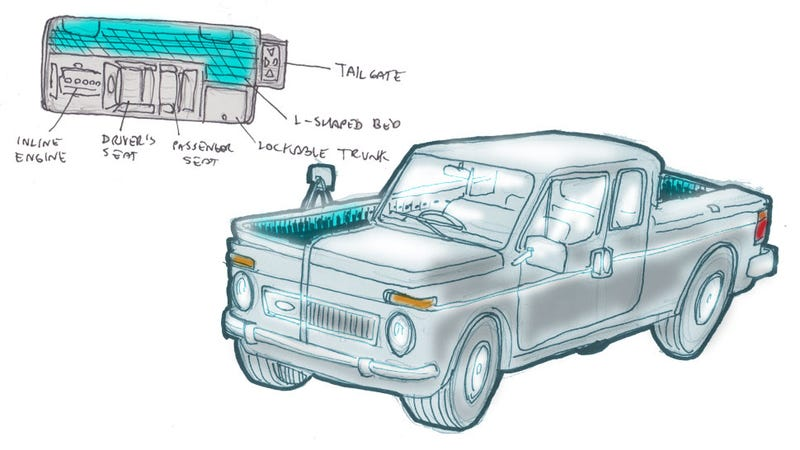 Illustration for article titled This Full-Length Bed Truck Should Totally Be A Thing