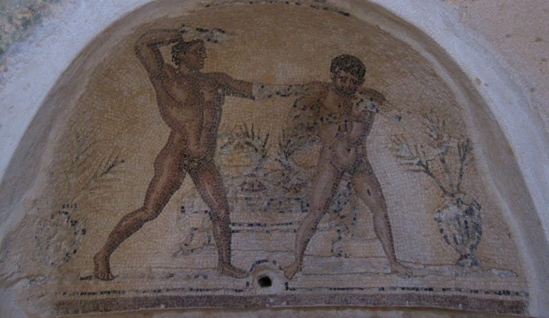 Illustration for article titled 1,747-Year-Old Wrestling Match Was Fixed