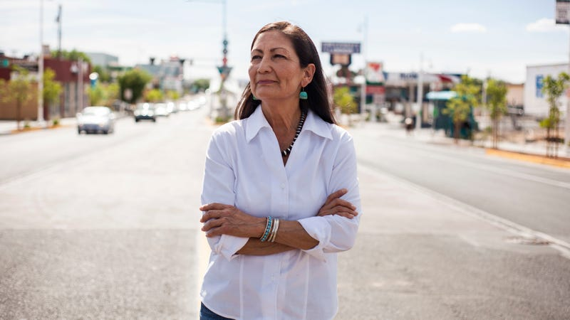 Deb Haaland, one of the first Native American women elected to Congress.