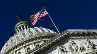 An American flag waves outside the Capitol building in Washington, D.C.Win McNamee/Getty Images