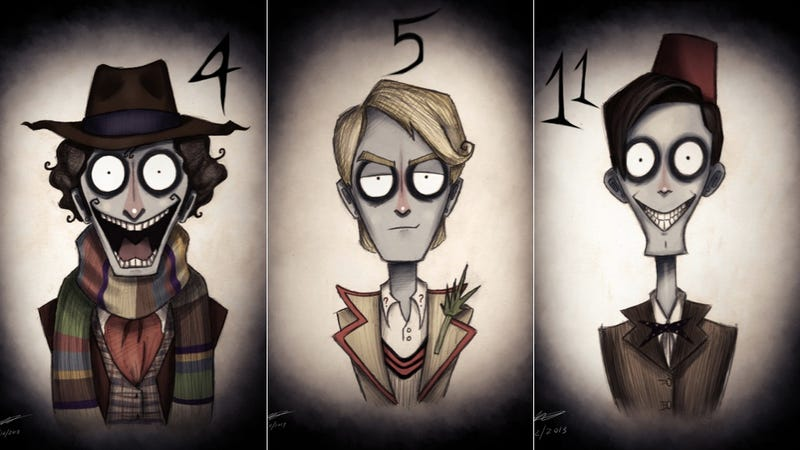Illustration for article titled What if Tim Burton created Doctor Who?