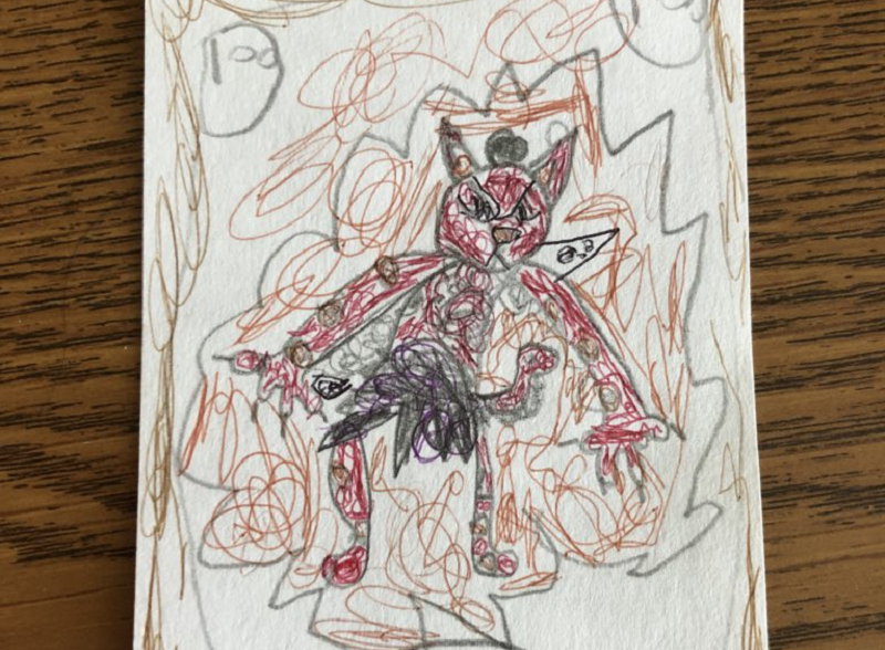 Illustration for article titled Artist Turns Child's Sketch Into Hearthstone Card