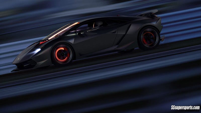 For some reason the Hot Wheels Sesto Elemento is her FAVORITE car; it also doubles as a phone for her.