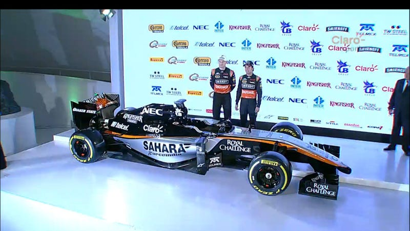 Illustration for article titled Sahara Force India reveals a gorgeous new livery in Mexico City