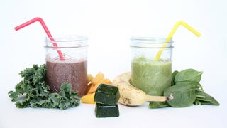 Freeze Kale Cubes to Make Super Fast Green Smoothies