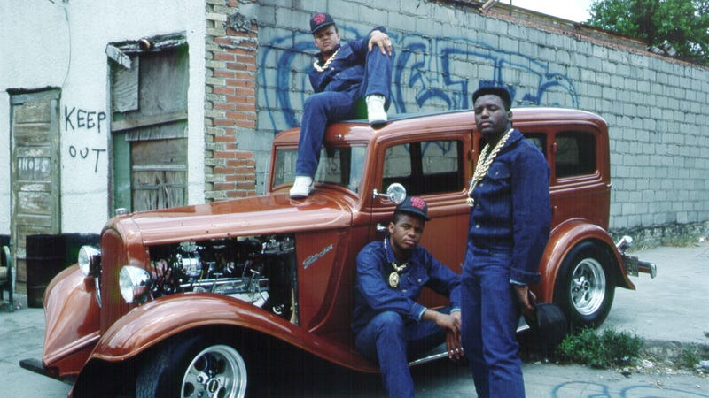 The Ghetto Boys (later spelled Geto Boys) in 1987 (clockwise from top: DJ Ready Red, Prince Johnny C, and Sire Jukebox),