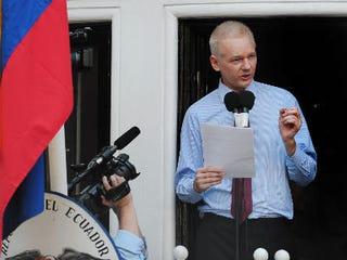 Julian Assange (Carl Court/AFP/Getty Images)