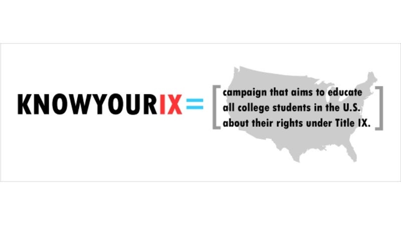Illustration for article titled Student Rape Survivors Launch Much-Needed Know Your IX Campaign