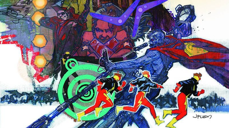 Illustration for article titled Exclusive DC preview: Supervillains go to war in Convergence: Suicide Squad #2