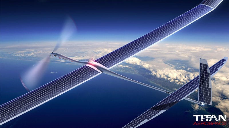 Titan Aerospace, a drone startup, was bought by Google in 2014. (Image: Titan Aerospace)