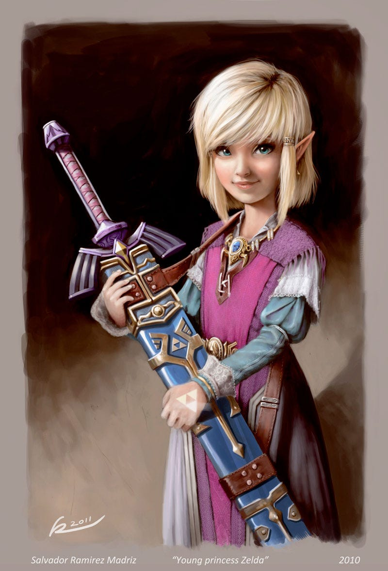 Illustration for article titled Princess Zelda, 25 Years Young