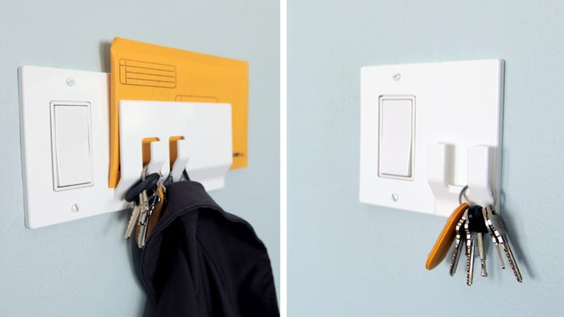 Illustration for article titled A Light Switch That Holds Your Mail and Keys
