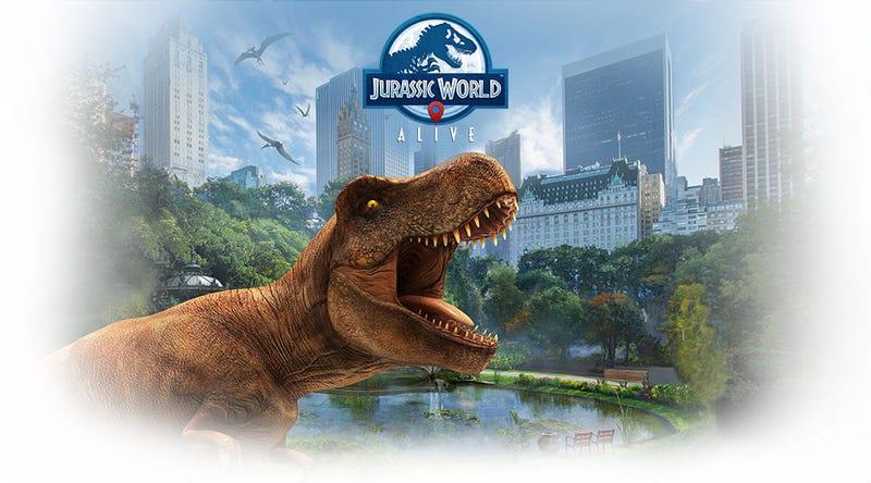 A teaser image of Jurassic World Alive.