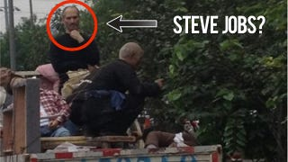 Illustration for article titled Steve Jobs Spotted in the Back of a Truck. In China. [Update]