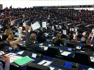 Illustration for article titled Az Európai Parlamentben is Orbán alkotmánya ellen demonstráltak